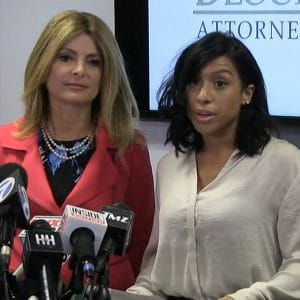 Montia and her lawyer Lisa Bloom