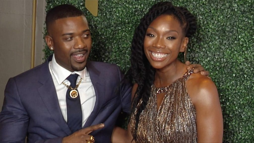 Ray J and Brandy red carpet