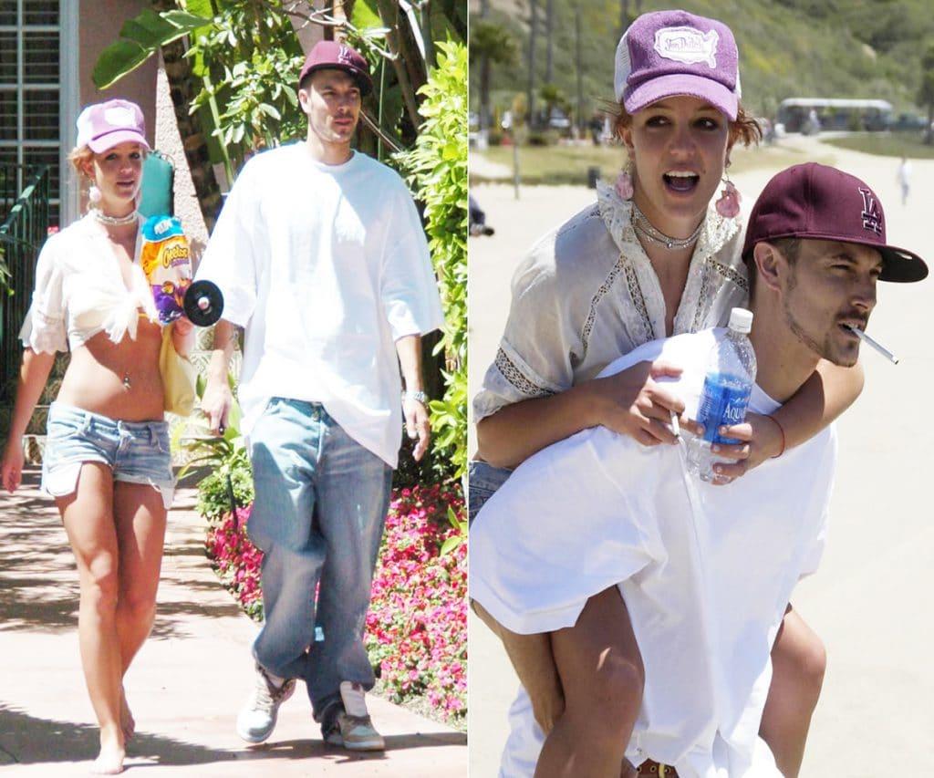 Britney Spears on Kevin Federlines back