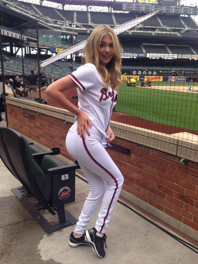 Kate Upton in Justin Verlander baseball uniform