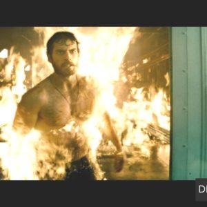 Henry Cavill on fire