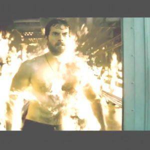 Henry Cavill fire scene