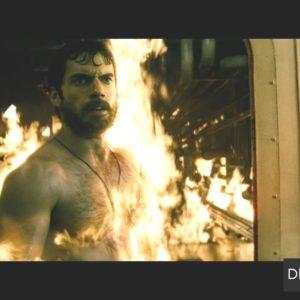 Henry Cavill shirtless fire