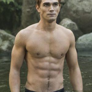 KJ Apa sexy muscles
