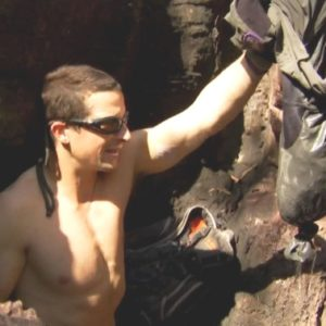 Bear Grylls exposed body