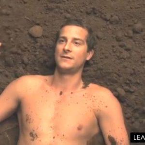 Bear Grylls in the mud