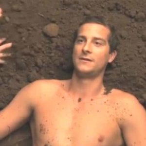 Bear Grylls in the mud