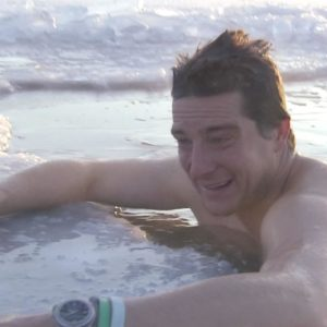 Bear Grylls ice bath
