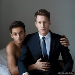 Dustin Lance Black with his husband