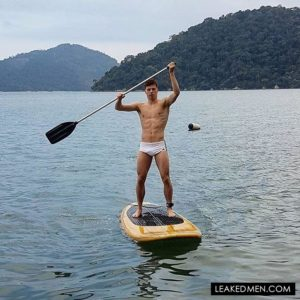Freddie Woodward paddle boarding