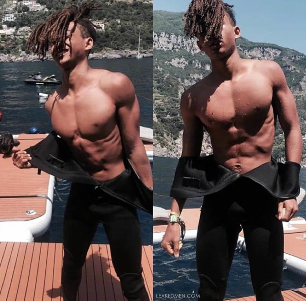 Jaden Smith wet suit pecs