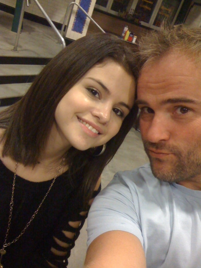 David DeLuise selfie with Selena Gomez